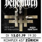 VERLOSUNG BEENDET - 2 x 2 Tickets für BEHEMOTH und AT THE GATES am 15. Januar im Komplex 457 in ZÜRICH zu gewinnen!