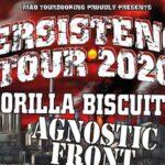 TRACKS präsentiert: Persistence Tour 2020 mit Gorilla Biscuits, Agnostic Front, Street Dogs und H2O am 20. Januar im X-Tra in Zürich