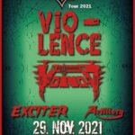 TRACKS präsentiert: VIO-LENCE, VOIVOD, EXCITER und ARTILLERY am 29. November 2021 im Dynamo in ZÜRICH